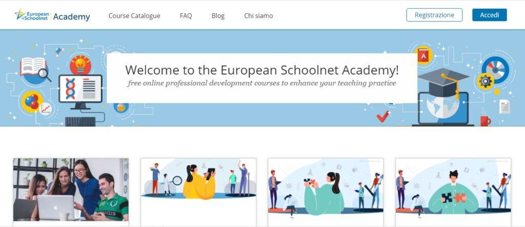La European Shcoolnet Academy offre corsi online per la formazione dei docenti.