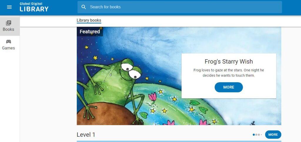 Global Digital Library raccoglie storie suddivise per livello per bambini di tutte le lingue.
